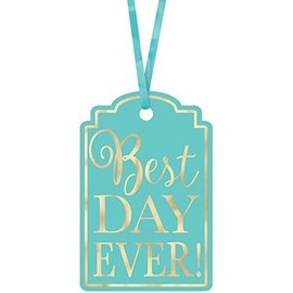 """Tags-Best Day Ever-Robin""""s Egg Blue-25Pk/2""""X3"""""""