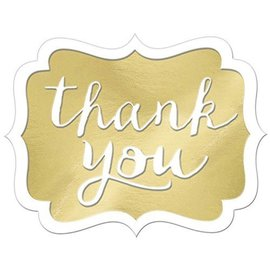 Stickers-Thank You-Gold-50Pk/1.5'' x 1''