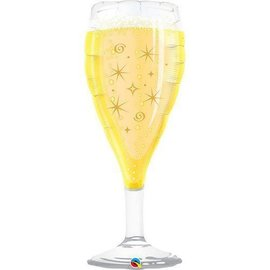 Foil Balloon - Bubbly Wine Glass - 39""