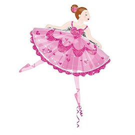 "Foil Balloon - Dancing Ballerina - 30""x35"""