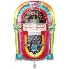 "Foil Balloon - Rock N Roll Jukebox - 29""x19"""