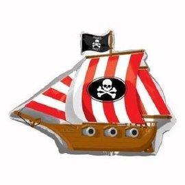 """Foil Balloon - Pirate Party Ship - 26""""x33"""""""