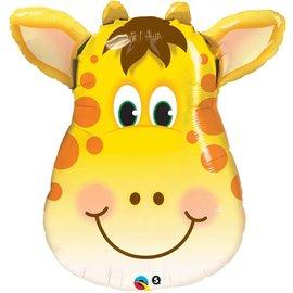 """Foil Balloon - Smiling Giraffe - 32"""""""