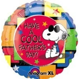 """Foil Balloon - Peanuts Father's Day - 18"""""""