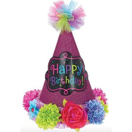 Hat-Cone-Happy Birthday Chic-1pkg-Paper