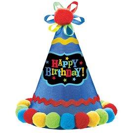 Hat-Cone-Bright Happy Birthday-1pkg-Paper