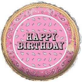 """Foil Balloon - Pink Bandana Cowgirl - 18"""""""