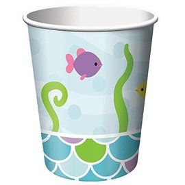 Paper Cups-Mermaid Friends-8pkg-9oz - Discontinued