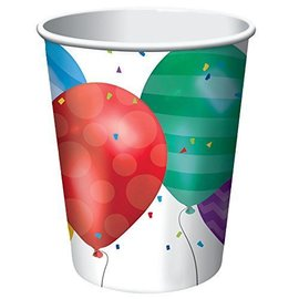 Paper Cups-Balloon Blast-8pkg-9oz