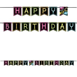 "Banner-Ribbon-Glow Party Birthday-1pkg-6""x8.9ft"