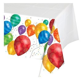 Tablecover-Rectangle-Balloon Blast-54''x102''-Plastic