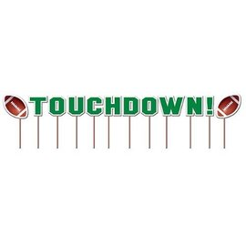 Cupcake Toppers-Football Touchdown-12pkg-2""