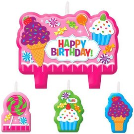 Candle Set-Sweet Shop Happy Birthday-4pkg