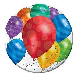 Plates-Balloon Blast-8pkg-Paper - Discontinued