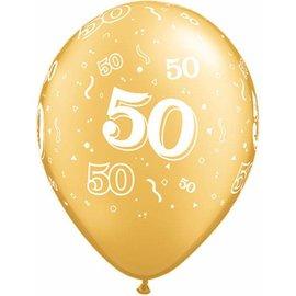"Latex Balloon-50 A Round Gold-1pkg-11"""