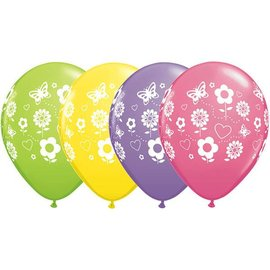 Latex Balloon-Fun Flowers Assortment-1pkg-11""