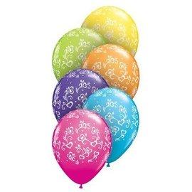 "Latex Balloon-Dainty Hearts A Round Assortment-1pkg-11"""