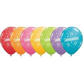 """Latex Balloon-Congratulations Star Patterns Assortment-1pkg-11"""""""
