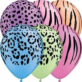 Latex Balloon-Safari Neon Assortment-1pkg-11""