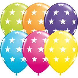 Latex Balloon-Big Stars Assortment-1pkg-11""