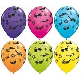 """Latex Balloon-Summer Fun & Sunglasses Assortment-1pkg-11"""""""