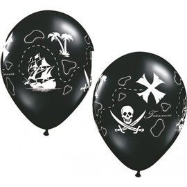 Latex Balloon-Pirate's Treasure Map-1pkg-11""