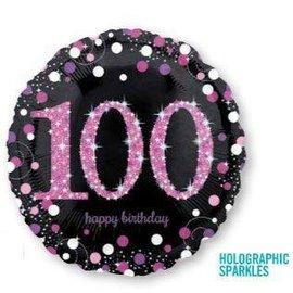 Foil Balloon - 100 Birthday - 18''