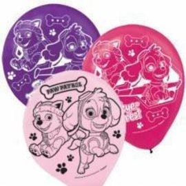"Balloons - Latex - Paw Patrol - 12"" - 6pc"