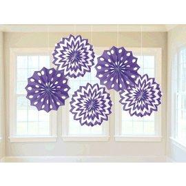 """Paper Fans - New Purple - 8"""" - 5pc"""