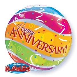 """Foil Balloon-Happy Anniversary Bubble 22"""""""