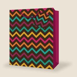 Gift Bag - Ex. Jumbo - Abstract Chevron