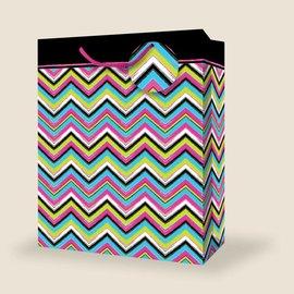 Gift Bag - Giant - Colourful Chevron