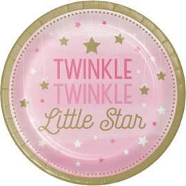 Plates Luncheon - Twinkle Little Star Pink