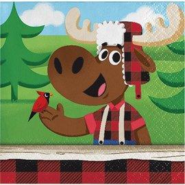 Napkins Bev - Lumberjack-16pk-2ply