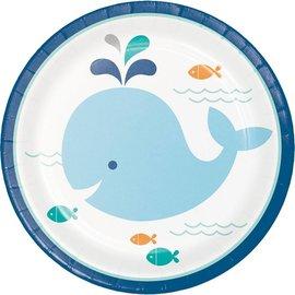 Plates-BEV-Lil Spout Blue-8pk-Paper