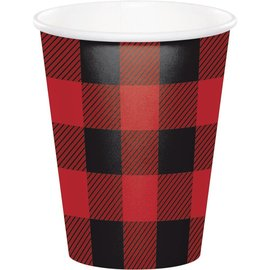 Cups - Buffalo Plaid-8pk-Paper
