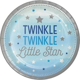 Plates LN - Twinkle Little Star Blue