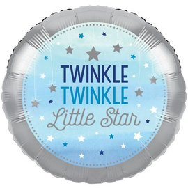 Foil Balloon - Twinkle Little Star Blue