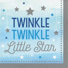 Napkins LN - Twinkle Little Star Blue