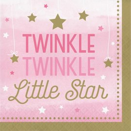Napkins LN - Twinkle Little Star Pink