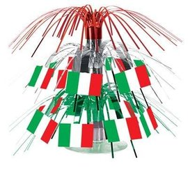 Centerpiece-Mini Cascade-Italy Flag-1pkg-7.5""