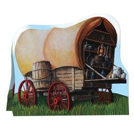 """Centerpiece-3D-Chuck Wagon-1pkg-7.75"""""""