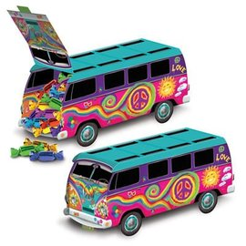 Centerpiece-Fillable-Groovy 60's Bus-1pkg-9.75''x4.25''