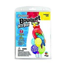 """Foil & Latex Balloon Bouquet - Tropical Parrot - 7pc - 11""""-50"""""""