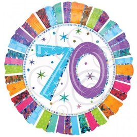 Foil Balloon - 70 Radiant Birthday - 18""