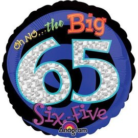 """Foil Balloon - Oh No the Big 65 - 18"""""""