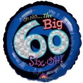 Foil Balloon - Oh No the Big 60 - 18""