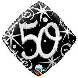 """Foil Balloon - Elegant 50 Sparkle - 18"""""""