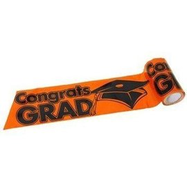 Streamer-Orange Congrats Grad-300ft (Seasonal)