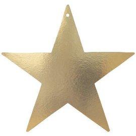 """Cutout-Foil-Gold Star-1pkg-12"""""""